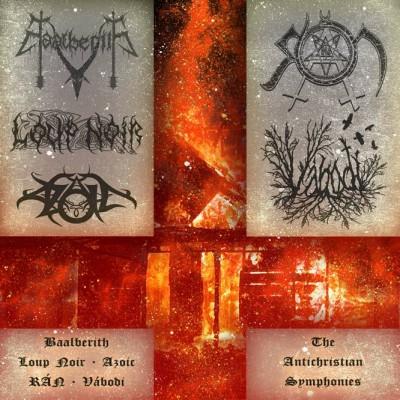 SAT063: Baalberith / Loup Noir / Azoic / RAN / Vabodi - The Antichristian Symphonies [split] (2013)