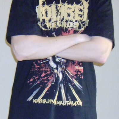 T-Shirt - No Label Records (Never Ending Brutality)