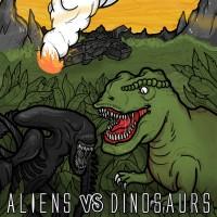 SODP045: Hulduefni / I Am Esper / Paleozoic / Satanath - Aliens VS Dinosaurs [split] (2015)